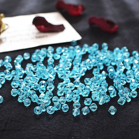 AkoaDa 220Pcs 6Mm Bicone Crystal Glass Spacer Bead For Diy Jewelry Making