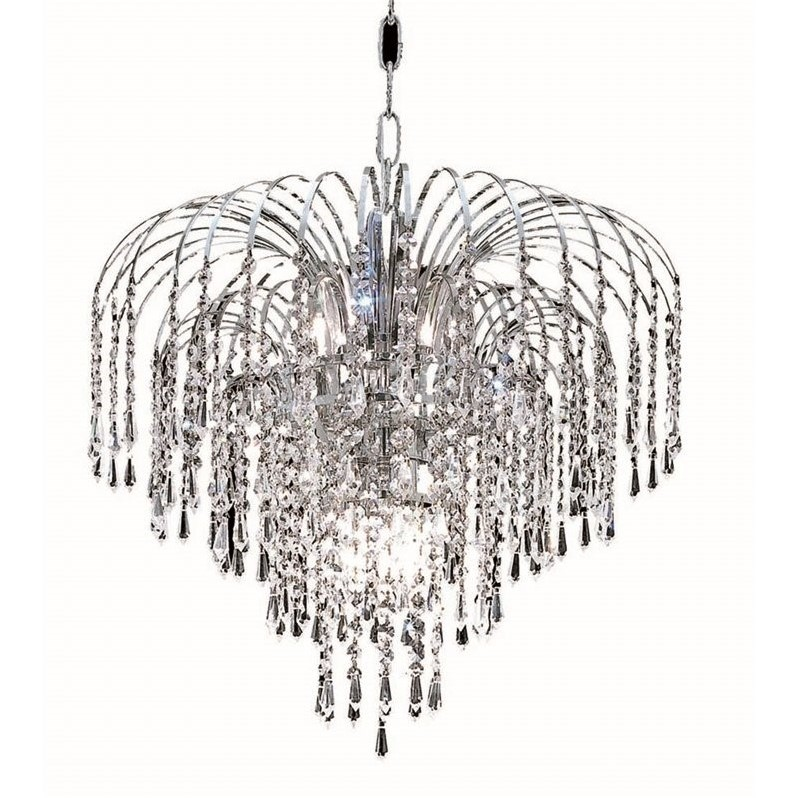 "Elegant Lighting Falls 19"" 6 Light Spectra Crystal Chandelier - image 1 of 1"