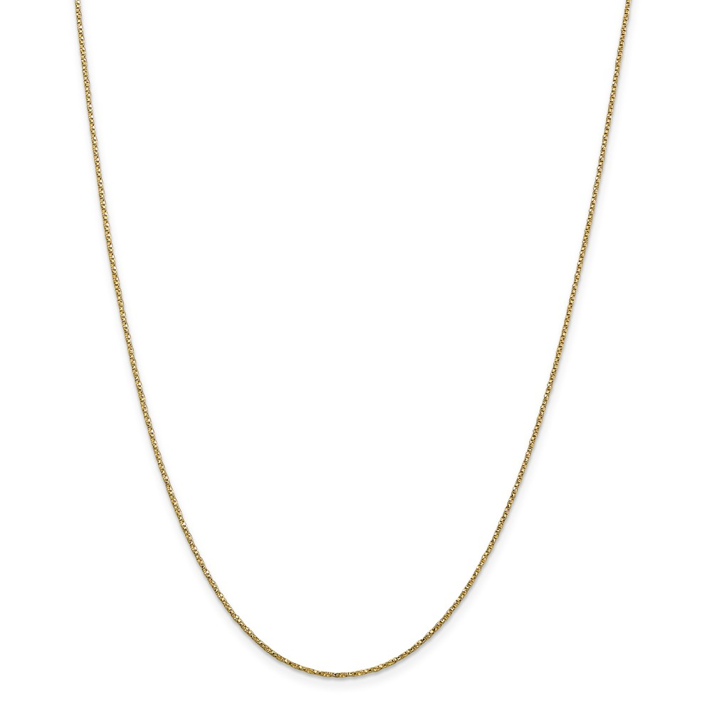 ICE CARATS 14kt Yellow Gold .95mm Twisted Link Box Chain Necklace 20 Inch Pendant Charm Fine Jewelry Ideal Gifts For... by IceCarats Designer Jewelry Gift USA