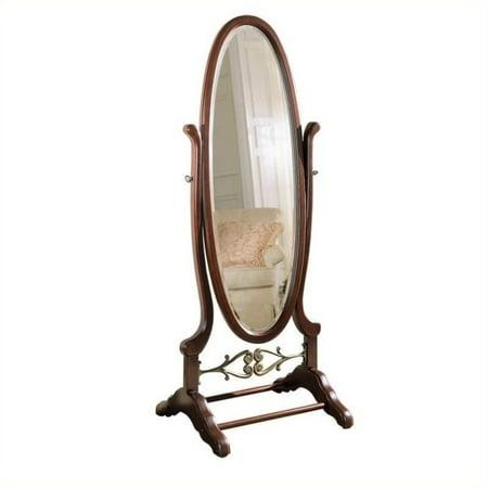 Powell Heirloom Cherry Cheval Floor Mirror   25 25W X 63H In