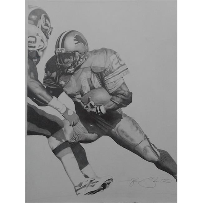 Deacon Jones Foundation JT-01SW Game Changer Art Print, by Jamie Thomas - Stretched and Wrapped