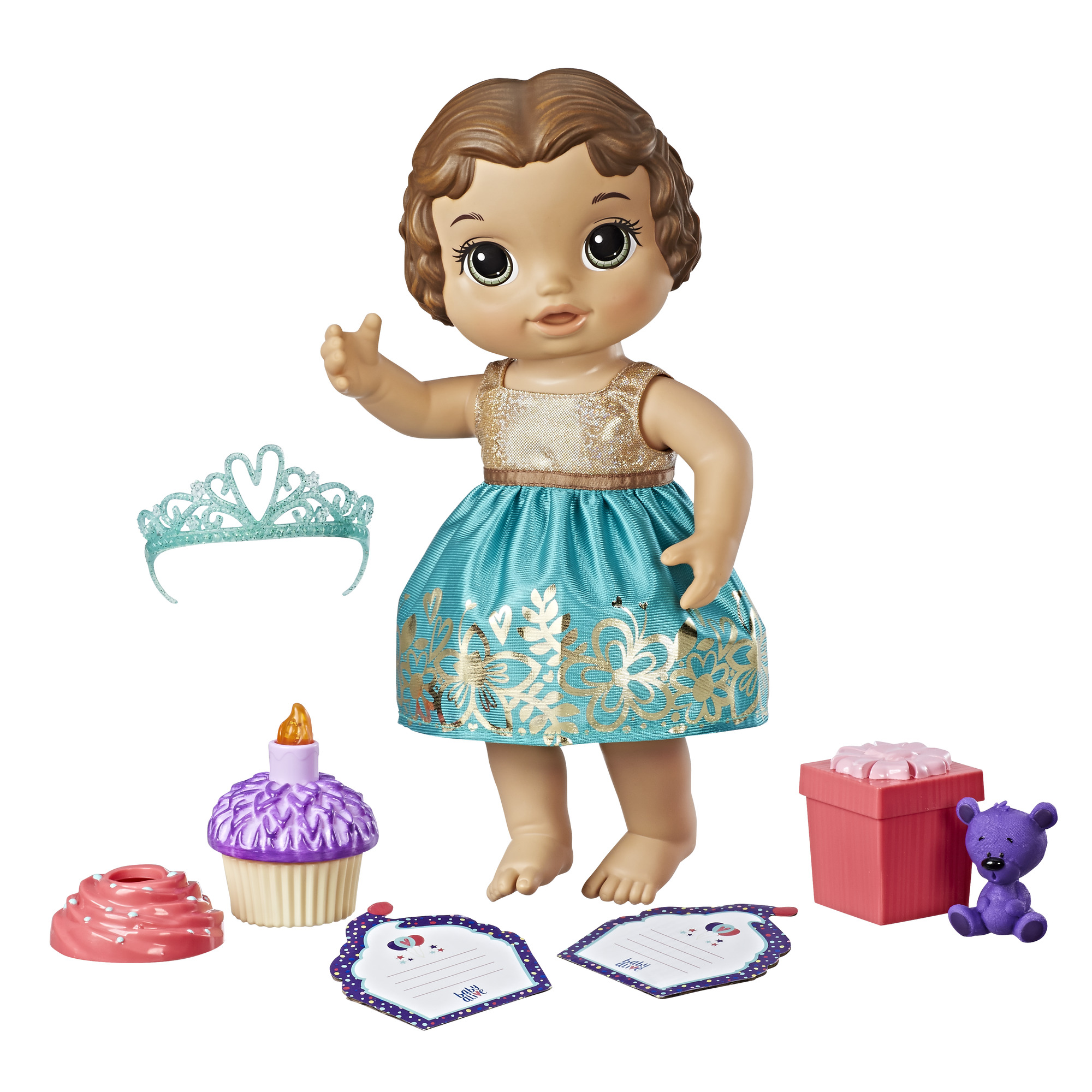 Baby Alive Cupcake Birthday Baby-Brunette Hair