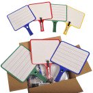 PADDLES DRY-ERASE LINED RECTANGULAR CLASS SET OF 32 W/32 MARKERS - image 1 de 1