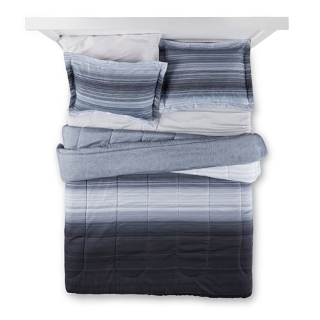 Mainstays Ombre Grey Bed in a Bag Bedding, Twin/Twin XL, Grey
