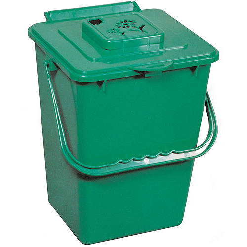 Eco Kitchen Compost Pail with Carbon Filter, Green