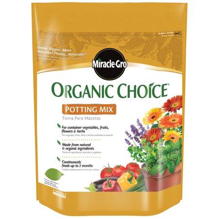 Miracle Gro 72978510 Organic Choice Potting Mix, 8 qt.