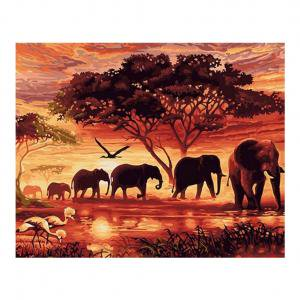 Fancyleo 5D Diamond Painting Kits Full Drill Embroidery Home Wall Decor (Elephant) 1 Pcs ()