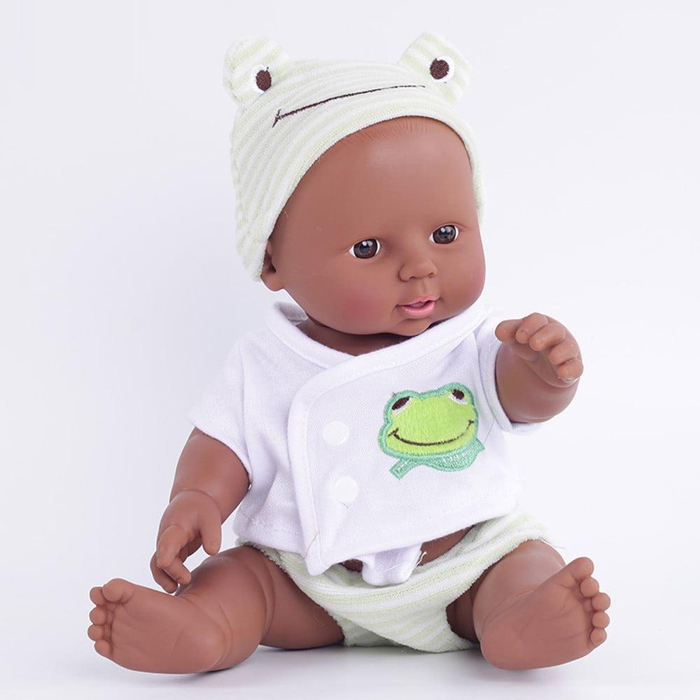 DZT1968 Baby Emulated Doll Soft Children Reborn Baby Doll Toys Boy Girl Birthday Gift