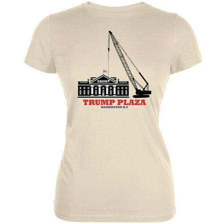 Election 2020 Trump Plaza Washington DC Cream Juniors Soft T-Shirt -