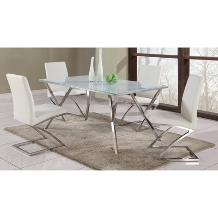 Chintaly Jade 5 Piece Dining Table Set With Z Frame Chairs