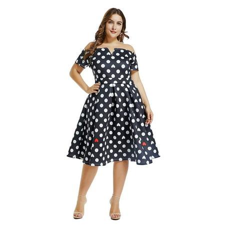 8da72ee4be edgelook - Lalagen Women s Vintage 1950s Party Cocktail Wedding Swing Midi  Dress New - Walmart.com