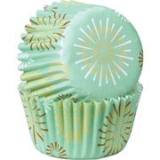 Wilton Starburst Mini Party Baking Cups Muffin Candy Cupcake Liners, 100-Count