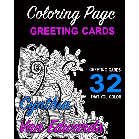 Coloring Page Greeting Cards - Color, Cut, Fold & Send!: Adult ...