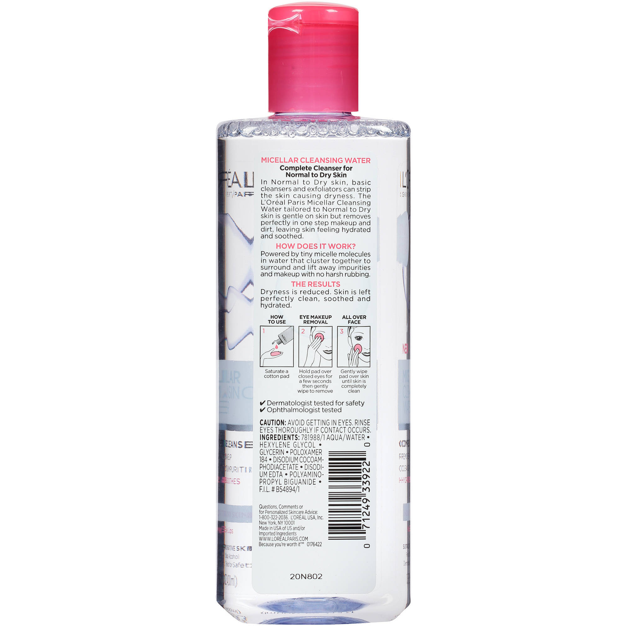 Loreal Paris Micellar Cleansing Water Complete Cleanser L Oreal Makeup 250ml Blue