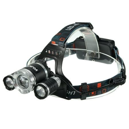 Head Spotlight - CAMTOA LED Rechargeable Headlamp Flashlight,Waterproof Spotlight to be Worn on Head,High Capacity 2200mah Batteries,4 Modes Headlamp for Hiking Camping Riding Fishing