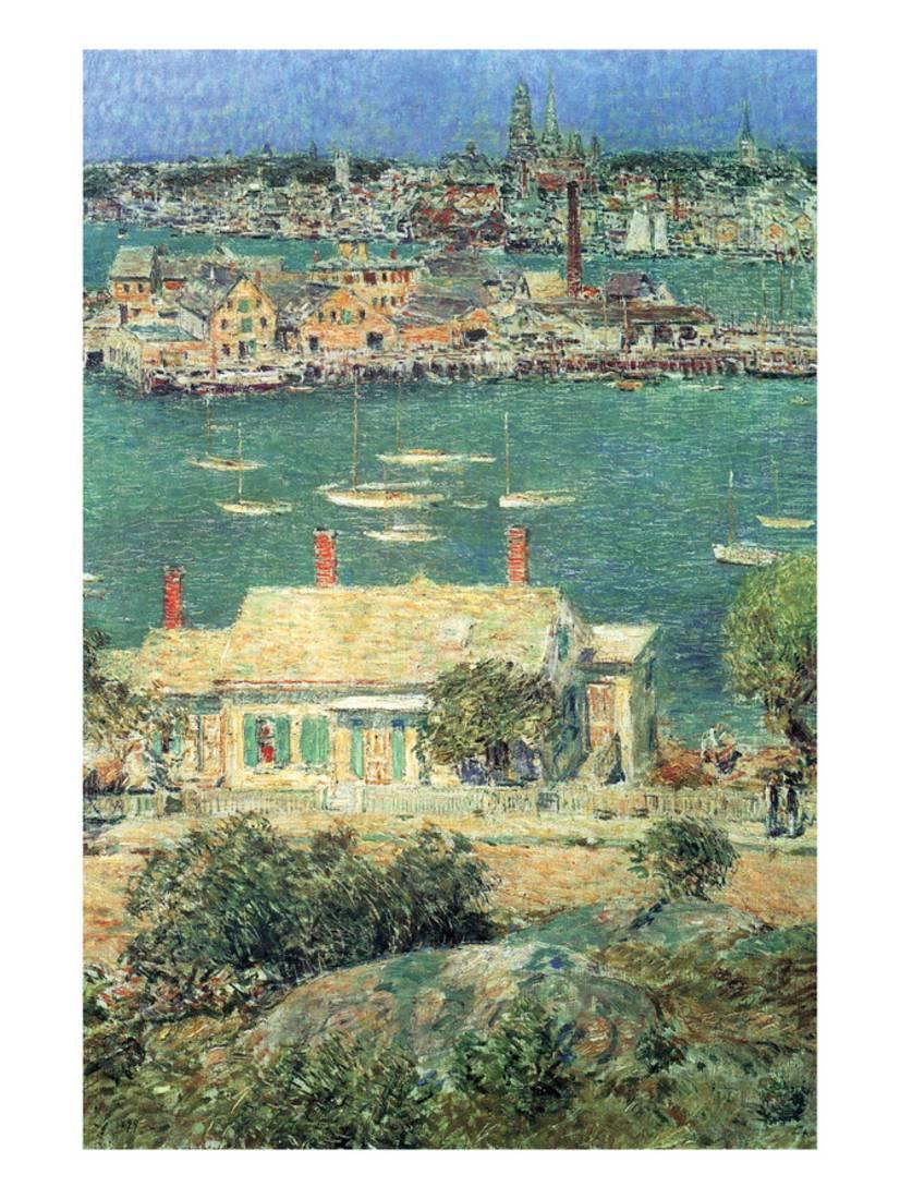 Port of Gloucester Art Print By Childe Hassam by Art.com