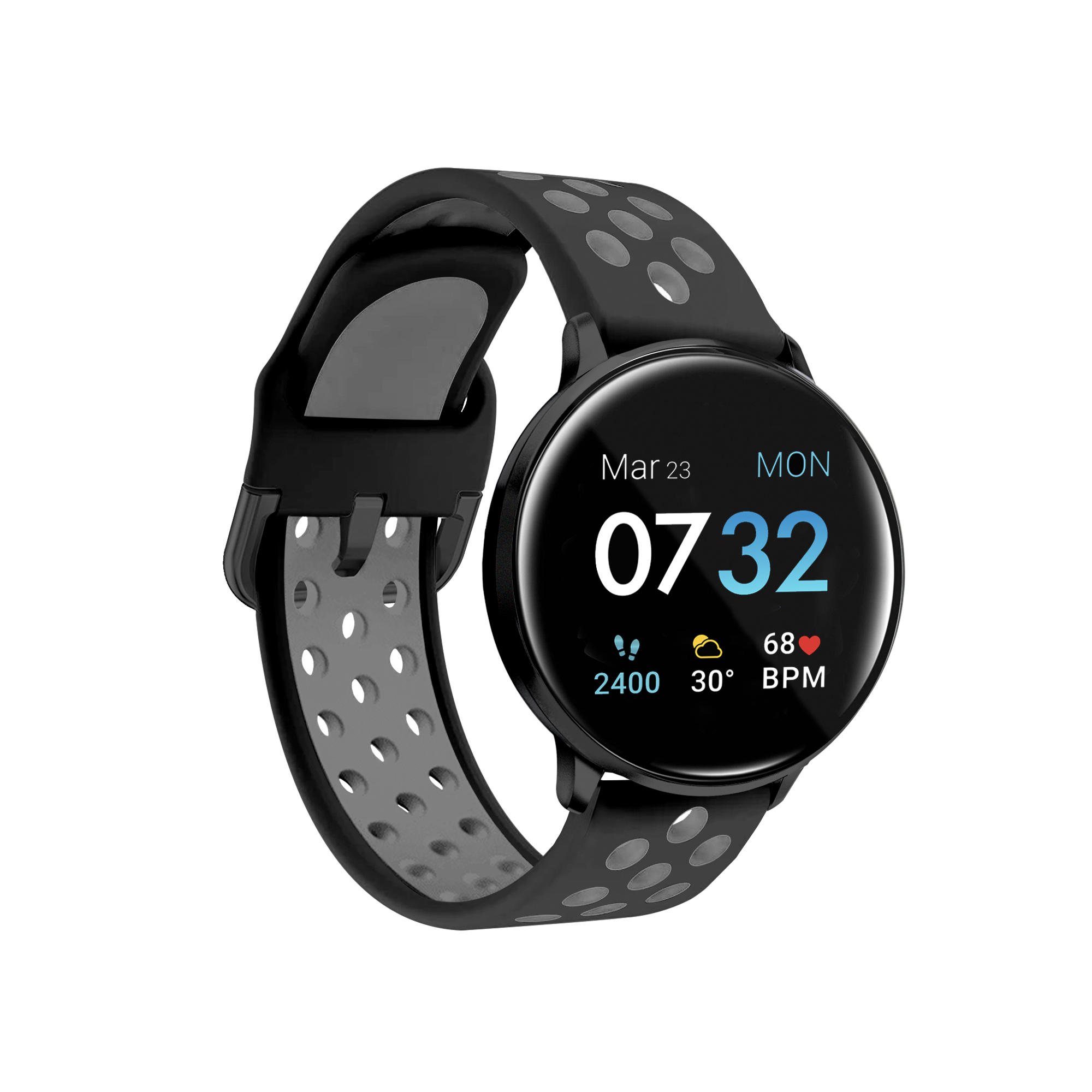 iTouch - iTouch Sport 2 Smartwatch: Black Case with Black
