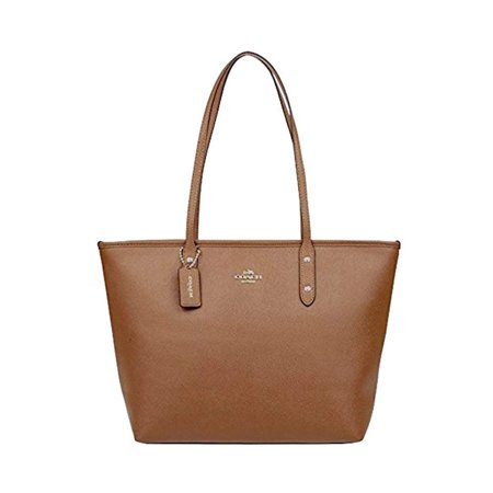 COACH City Zip Top Tote Bag Purse Crossgrain (Coach Nomad Crossbody In Burnished Glovetanned Leather)