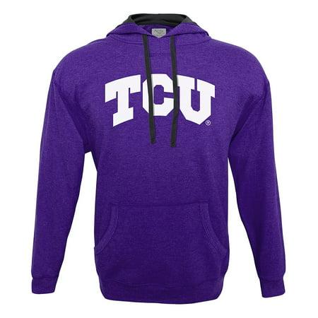 Cardinals Ncaa Hooded Fleece - NCAA Tcu Horned Frogs Men's Hood 50/50 Fleece Top, Purple, Medium