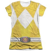 Mighty Morphin Power Rangers Yellow Ranger (Front Back Print) Juniors Shirt