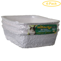 Kitty Wonder Box Litter Pan / Liner 3 Pack - 17L x 12W x 4.5H - Pack of 4