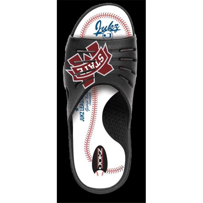 Jukz Sports MS-BSB01-XL Mississippi State Bulldogs Baseball Unisex Sports Slides, Extra Large
