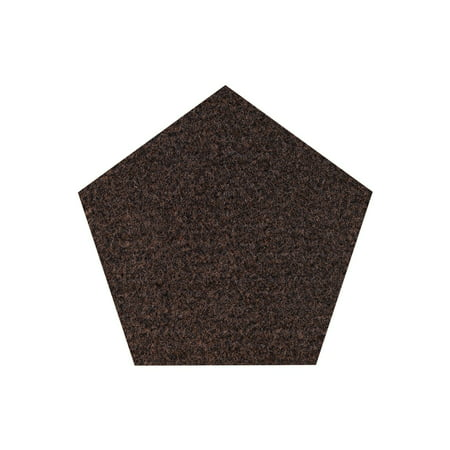Commercial Indoor/Outdoor Area Rug with Rubber Marine Backing for Patio, Porch, Deck, Boat, Basement or Garage with Premium Bound Polyester Edges Chocolate Color 5