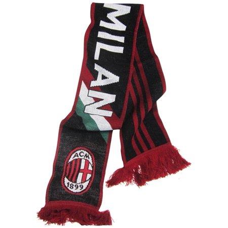 AC Milan Soccer Futbol Adidas Authentic Jacquard Team Scarf