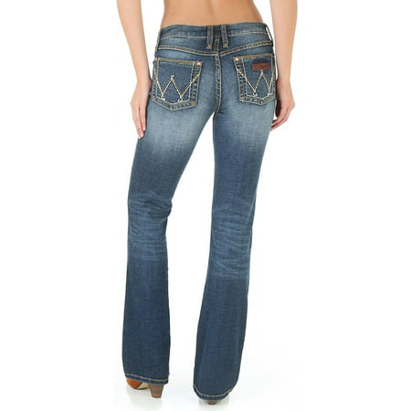 Wrangler Women's Western Retro Bottoms Dark Blue - Blue Retro 13