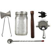 Makerskit Classic Cocktail Bar Set, Includes Hardwood Muddler by MakersKit