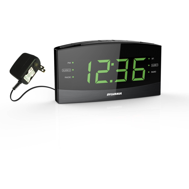 "Sylvania SCR1989BT Jumbo Digit 1.8"" Alarm clock Radio with Bluetooth by Sylvania"