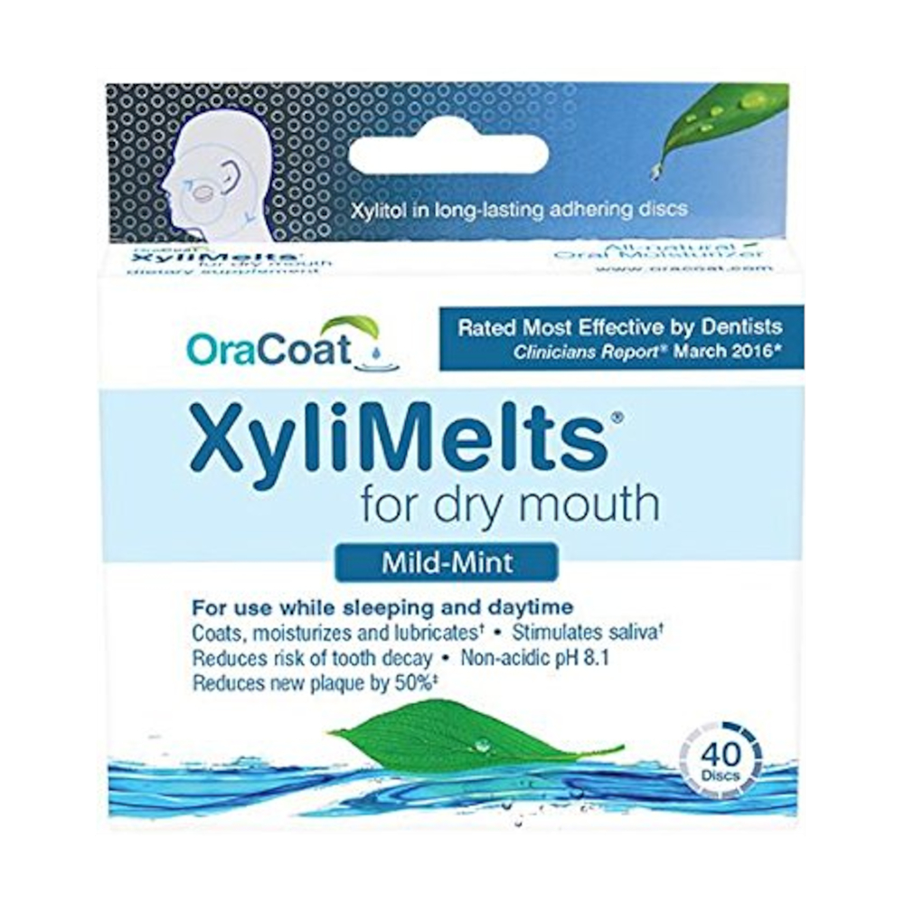 OraCoat XyliMelts Mild-Mint for Dry Mouth 40 Discs