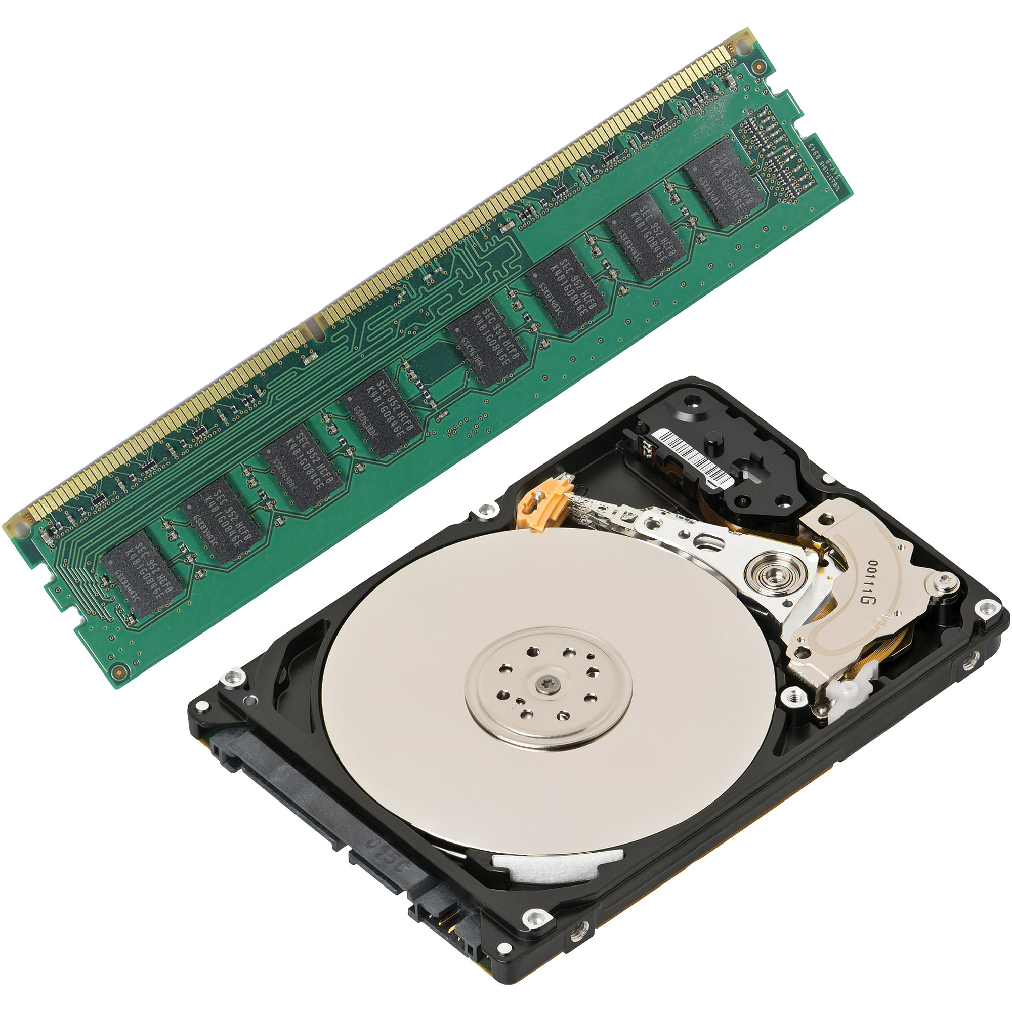 4GB DDR3 Memory + 500GB Hard Drive