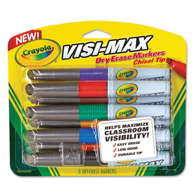 Crayola 988900 Dry Erase Marker Chisel Tip, Assorted Colors