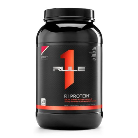 Rule One R1 Protein Rule 1 Whey Isolate 38 Servings Strawberries & Creme
