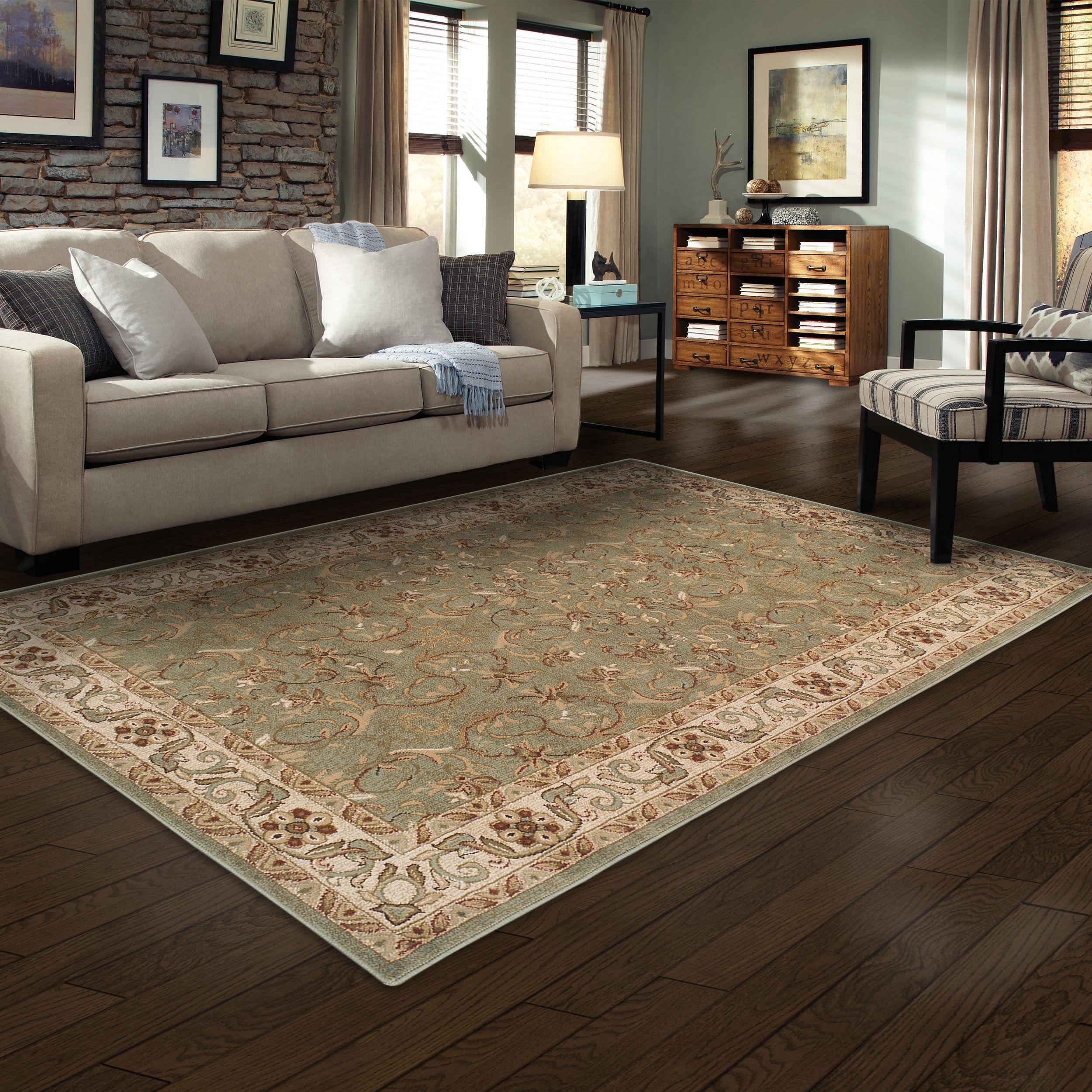 Superior Elegant Heritage Collection with 10mm Pile and Jute Backing, Moisture Resistant and Anti-Static Indoor Area Rug