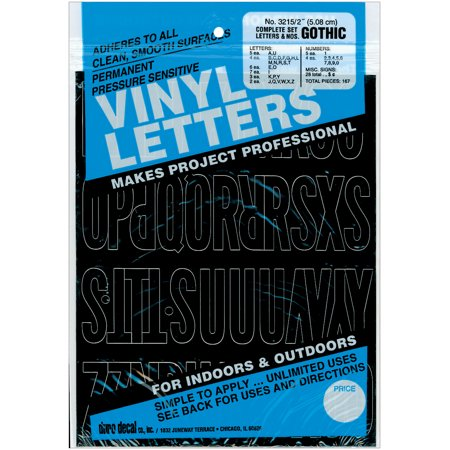- Permanent Adhesive Vinyl Letters & Numbers 2
