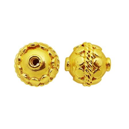 BG-370 18K Gold Overlay Bali Bead