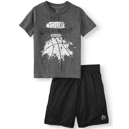 RBX Short Sleeve Graphic T-shirt & Mesh Short, 2pc Active Set (Toddler Boys) (Toddler - Mesh Short Set