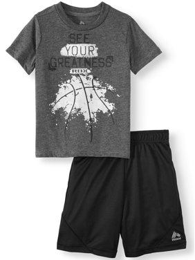 9e888629a Free shipping. Best Seller. Product Image RBX Short Sleeve Graphic T-shirt  & Mesh Short, 2pc Active Set (Toddler