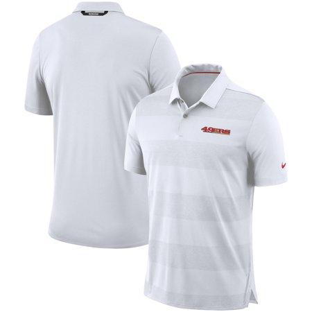 San Francisco 49ers Nike Sideline Early Season Wordmark Performance Polo - - Nike Chest Graphic Polo