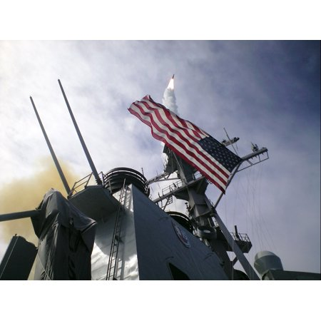 Laminated Poster A Standard Missile 2  Sm 2  Screeches Skyward Away From The Guided Missile Destroyer Uss Lassen  Dd Poster Print 24 X 36