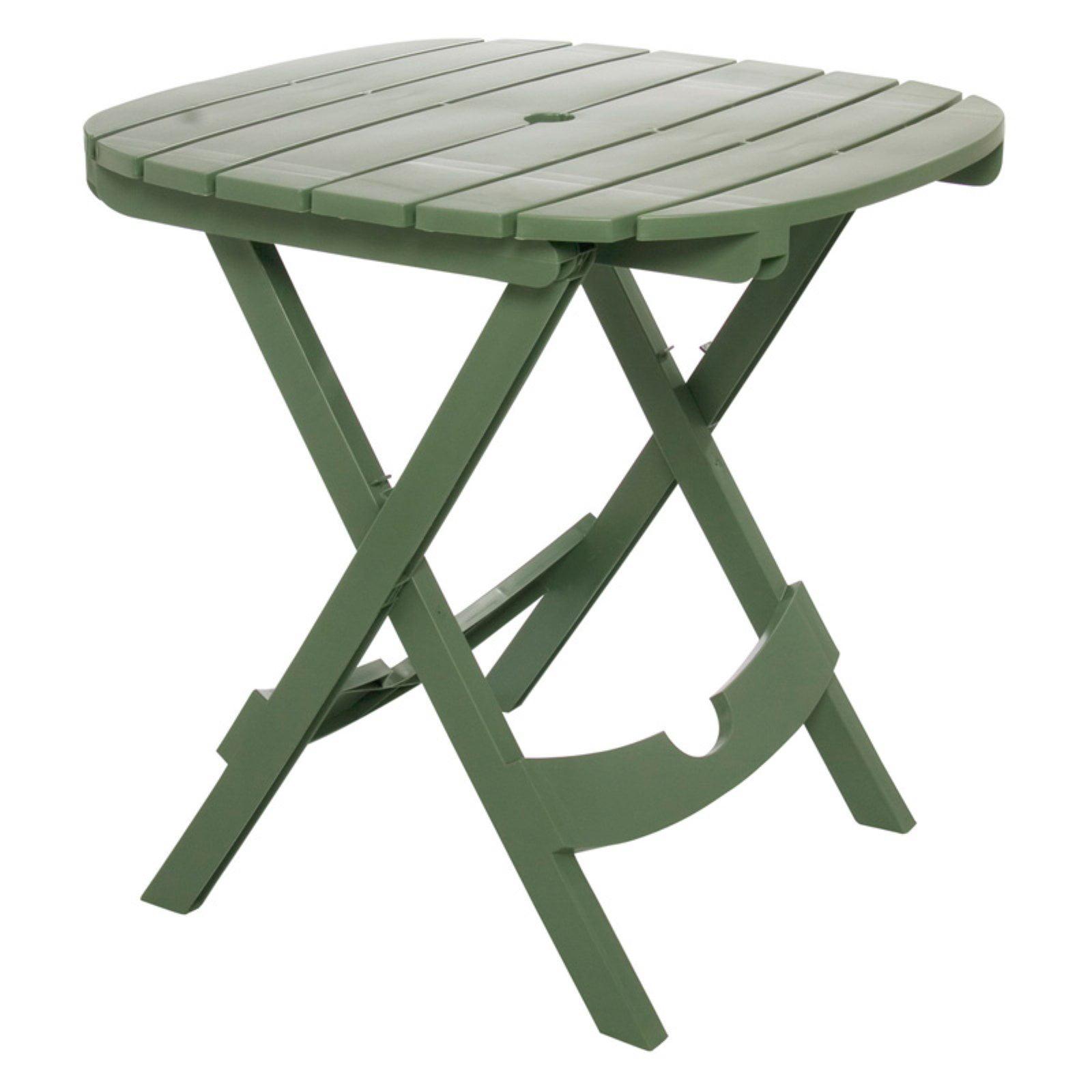 Adams Manufacturing Quik Fold Cafe Table Sage Walmart Com