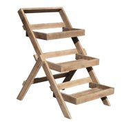 Renaissance Eco-friendly Wooden 3-Layer Garden Planter Stand