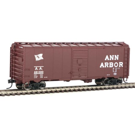Halloween Stores Ann Arbor (Walthers HO Scale 40' AAR 1944 Boxcar Ann Arbor Railroad #68000 (Flag)