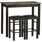 Linon Home Decor Products, Inc. Tavern 3-Piece Set, Espresso