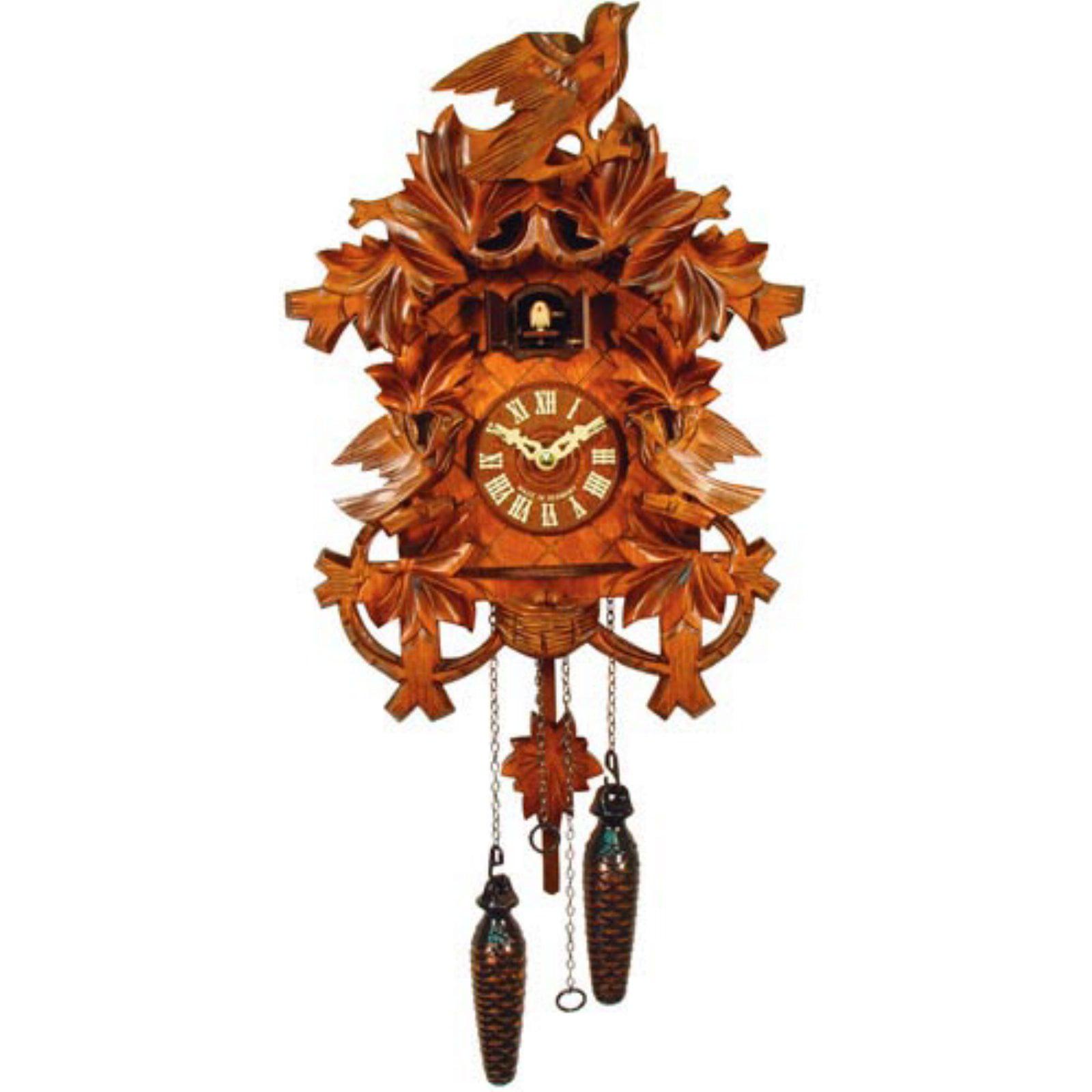 Carved Yellow Cuckoo Bird Cuckoo Clock by Alexander Taron