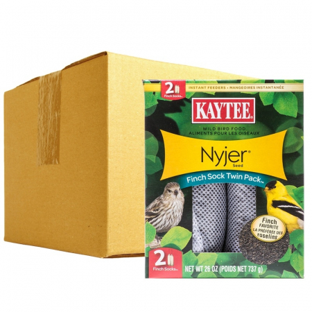 Kaytee Nyjer Seed Finch Sock Twin Pack - BULK - 12 Socks - (6 x 2 Pack)