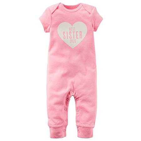 Baby Girls' Best Sister Ever Jumpsuit (6 Months, Pink) (Best Buy Girl)