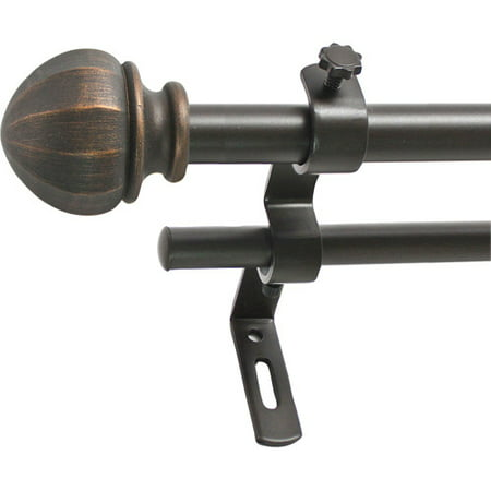 montevilla 5 8 facet ball double curtain rod set. Black Bedroom Furniture Sets. Home Design Ideas